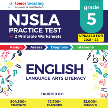 NJSLA Test Prep Language Arts - NJSLA Practice Test & Worksheets Grade 5 ELA