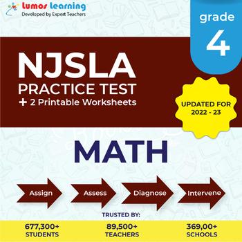 NJSLA Test Prep Math - NJSLA Practice Test & Worksheets Grade 4 Math