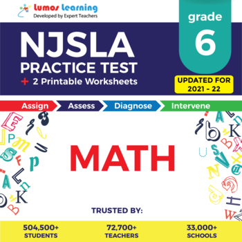 NJSLA Test Prep Math - NJSLA Practice Test & Worksheets Grade 6 Math