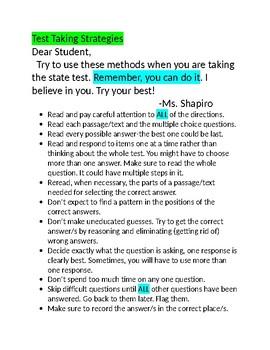 NJSLA and NJSLAM  Test Taking Strategies