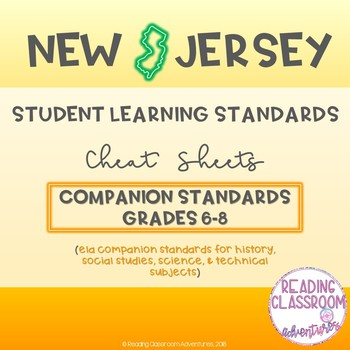 NJSLS ELA Companion Standards Cheat Sheets {Grades 6-8}