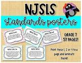 NJSLS Grade 7 Math Standards Posters