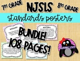 NJSLS Grade 7th and 8th  Math Standards Posters BUNDLE