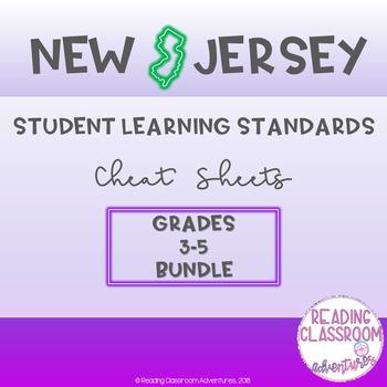 NJSLS Grades 3-5 Cheat Sheets {Bundle}