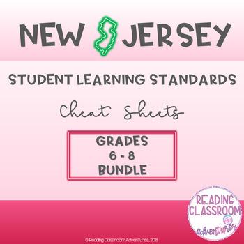 NJSLS Grades 6-8 Cheat Sheets {Bundle}
