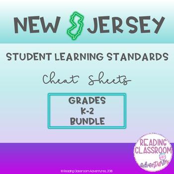 NJSLS Grades K-2 Cheat Sheets {Bundle}