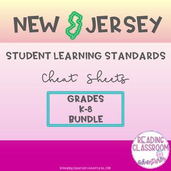 NJSLS Grades K-8 Cheat Sheets {Bundle}