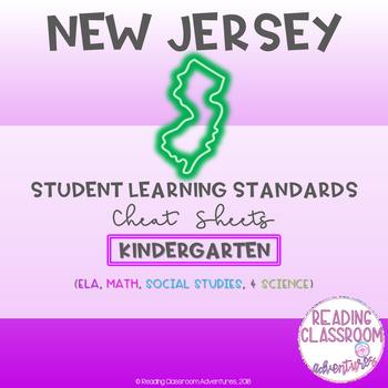 NJSLS Kindergarten Cheat Sheets