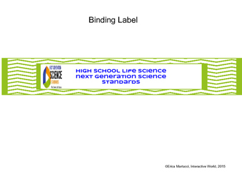 NJSS Life Science Flip Binder for High School Teachers