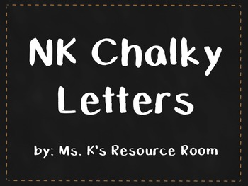 NK Chalky Letters Font