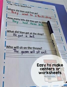 Trigraph Decodable Stories (3 letter blends scr spr str squ, spl, shr, and thr )