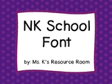 NK School Font based on Zaner-Bloser