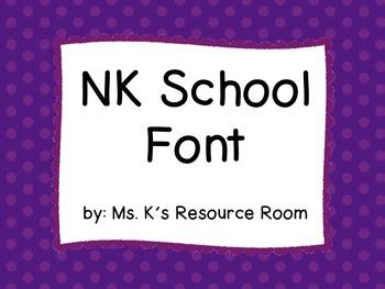 NK School Font based on Zaner-Bloser