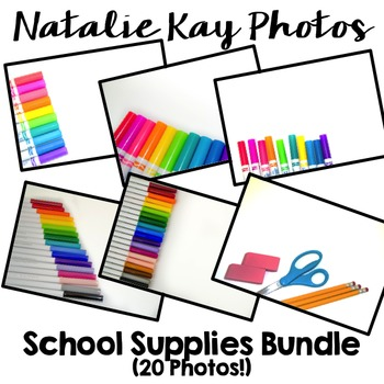 NK School Supplies Bundle - 20 Images for Commercial Use