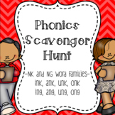 NK and NG Word Family Scavenger Hunt