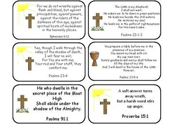NKJV Bible Verse Printable Flashcards. Preschool-Kindergarten Bible.