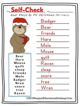 NLAGB: Bear Stays Up for Christmas ELA Activities