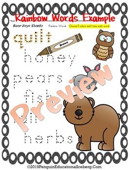 NLAGB: Karma Wilson's BEAR SAYS THANKS Print-n-Go Activities
