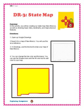 Nm Map Activity Google Drawings By Easy Peasy Computer Activities
