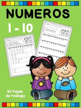 NÚMEROS 1-10, CUENTA Y ESCRIBE