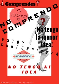 NO COMPRENDO POSTER WITH SYNONYMS