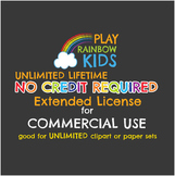 NO CREDIT REQUIRED LICENSE for UNLIMITED LIFETIME Clipart