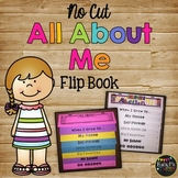 {NO CUT} All About Me FLIP BOOK, Back to School, Beginning