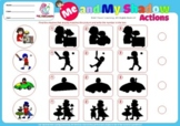 BUNDLE: ME AND MY SHADOW, 400 ACTION VERBS, vocabulary, grammar, ESL, 100 PAGES