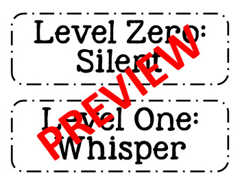 NO FUSS Group Labels and Voice Level Chart NO COLOR PRINTER NEEDED