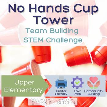 No Hands Cup Tower STEM Team Building Challenge