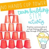 No Hands Cup Tower STEM Team Building Challenge