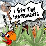 I Spy The Musical Instruments BUNDLE PowerPoints, Worksheets, Tests, & Homework!