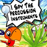 I Spy The Instruments - The Percussion Family Distance Learning