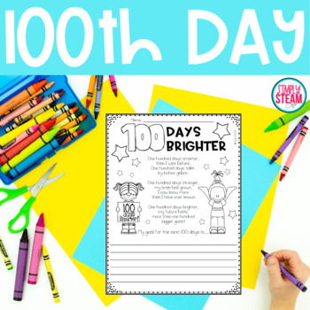 100th Day of School Worksheets for ELA and Math