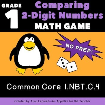 NO PREP 1st Grade 2 Digit Roll and Compare