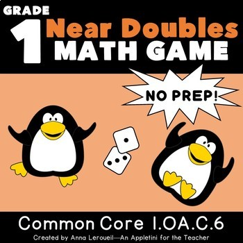 NO PREP 1st Grade Roll a Near Double Game FREEBIE
