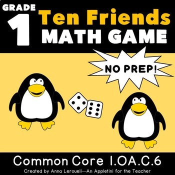 NO PREP 1st Grade Roll a Ten Friend Game