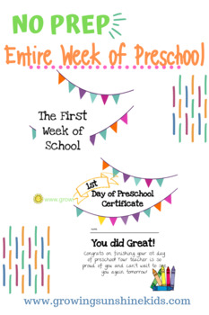 NO PREP - 1st Week of Preschool