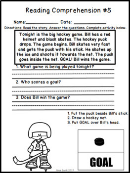 NO PREP 2018 Winter Olympic Games Reading Comprehension