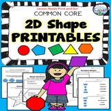 2d Shapes Printables Common Core 2nd 3rd