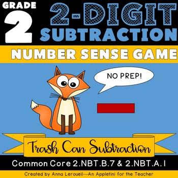 NO PREP 2nd Grade 2-Digit Subtraction Number Sense Game
