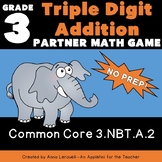 NO PREP 3-Digit Addition Partner Game--Spin It, Build It, Solve It, Share It
