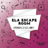 NO PREP 3rd Grade ELA Escape Room - ELA Grammar Escape -3rd Grade ELA Activities