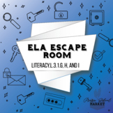 NO PREP 3rd Grade ELA Escape Room - Grammar Escape -3rd Grade English Activities