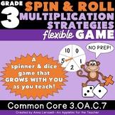 NO PREP 3rd Grade Multiplication Strategies Flexible Spin