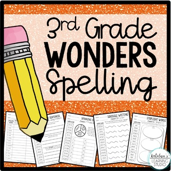 NO PREP 3rd Grade Wonders Spelling Activity Worksheets