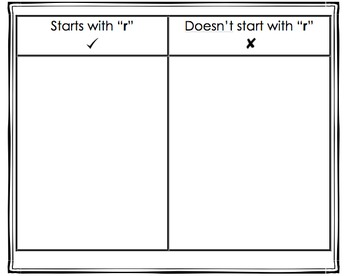 NO PREP 4 (r, f, n, s) Beginning Consonants Sorts K-2 Independent Work!