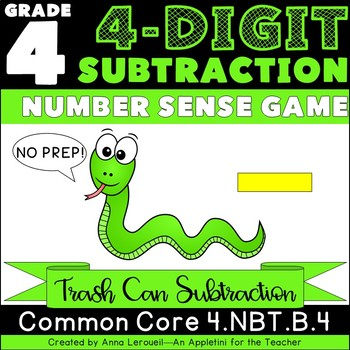 NO PREP 4th Grade 4-Digit Subtraction Number Sense Game