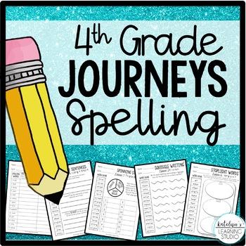 4th Grade Journeys Spelling Worksheets