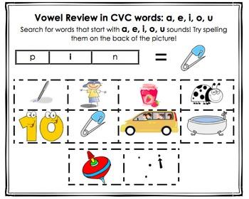 NO PREP 5 (a, e, i, o, u) Beginning Vowel Sorts K-2! (Orton-Gillingham Inspired)